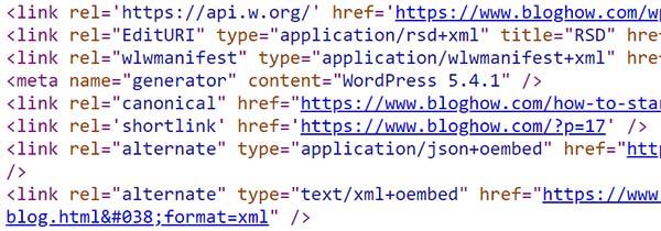 unnecessary code in wordpress header